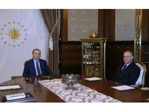 Cumhurbaşkanı Erdoğan, MGK Genel Sekreteri Hacımüftüoğlu'nu Kabul Etti