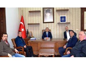 Bandırmaspor Yönetimi Sonel'i Ziyaret Etti