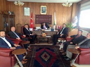 Tanrıver Ve Açıkgöz'den Kavak Belediye Başkanı Yiğit'e Ziyaret