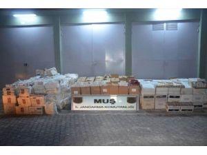 Muş'ta 122 Bin 379 Paket Kaçak Sigara Ele Geçirdi