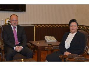 Bulgaristan Edirne Başkonsolosu Vasil Valchev'den Vali Civelek'e Ziyaret