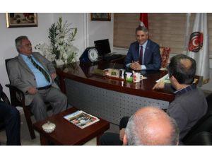 Başkan Yanılmaz, Fırat Havzası Gazeteciler Cemiyetini Ziyaret Etti