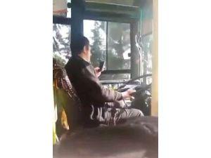 Otobüs Kullanırken Cep Telefonuyla Oynayan Sürücü Adliyeye Sevk Edildi