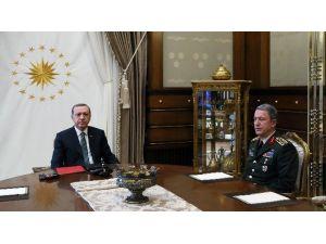 Genelkurmay Başkanı Orgeneral Akar Cumhurbaşkanlığı Külliyesi'nde