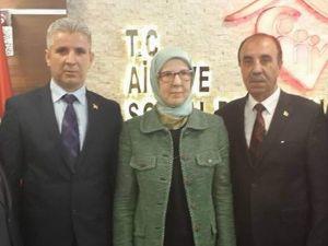 Şehit Aileleri, Aile Ve Sosyal Politikalar Bakanını Ziyaret Etti