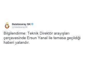 Galatasaray'dan Ersun Yanal Açıklaması