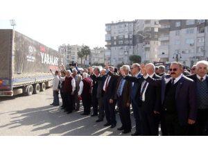 Mersin'den Suriye Sınırına 50 Tır Yardım