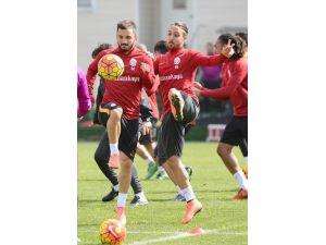 Galatasaray, Gençlerbirliği maçı hazırlıklarını sürdürdü