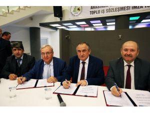 Bolu Belediyesi Ve Belediye İş Sendikası Arasında Toplu Sözleşme İmzalandı