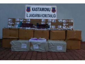 Kastamonu'da 206 Bin TL'lik Kaçak Malzeme Ele Geçirildi