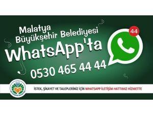 Malatya Büyükşehir Belediyesi, Whatsapp Hattı Kurdu