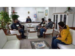 Bitlis Gazeteciler Cemiyeti'nden Kaymakam Erkan'a Ziyaret