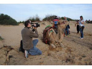 Side Antik Kent'inde deve turları başladı