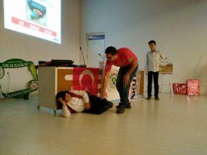 Sarıgöl'de Öğrencilere Deprem Semineri