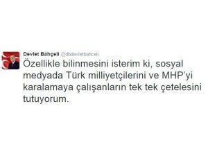 """MHP Lideri Bahçeli: """"Türk Milliyetçilerini Ve MHP'yi Karalamaya Çalışanların TEK TEK Çetelesini Tutuyorum"""""""