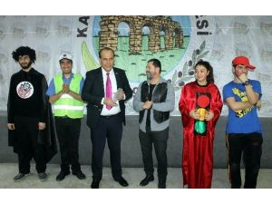 Karpuzlu'da Çocuklara Yönelik Tiyatro Oyunu Sergilendi