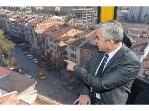 Büyükşehir Belediyesi EGO Genel Müdürü Gündoğdu, Yenimahalle-şentepe Teleferik Hattında İnceleme Yaptı