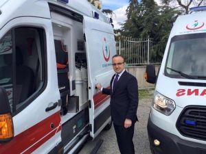 Çanakkale'ye Tam Donanımlı 7 Ambulans