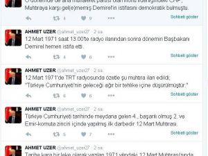 AK Partili Vekilden '12 Mart Muhtırası' Hatırlatması