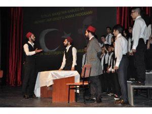 Sivas'ta İstiklal Marşı'nın Kabulünün Yıl Dönümü Kutlandı