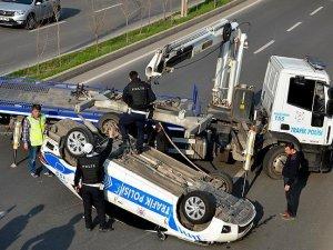 Kalkınma Bakanı Yılmaz'ın konvoyunda kaza