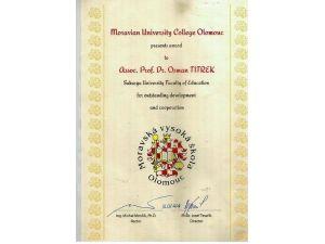 SAÜ Öğretim Üyesi Doç. Dr. Osman Titrek'e Ödül