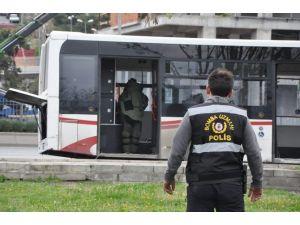 Otobüs Tahliye Ettiren Şüpheli Çantadan Bakın Ne Çıktı