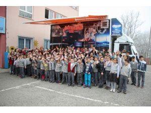 Yaklaşan TEOG Sınavı Öncesi Maçka'da Öğrencilere 10d Morali