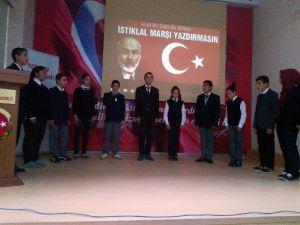Tuzlukçu'da İstiklal Marşı'nın Kabul'ü Programı Yapıldı