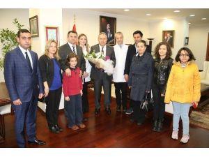 Sağlıkçılar, Vali Fidan'ı Ziyaret Ettiler