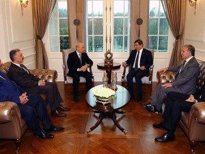 Davutoğlu ile MHP lideri Bahçeli bir araya geldi