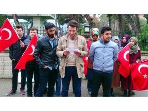 Balıkesir Üniversitesi Öğrencilerinden Teröre Tepki