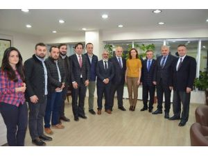 KTÜ Rektörü Baykal'dan Harita Ve Kadastro Mühendisleri Odası Trabzon Şubesi'ne Ziyaret