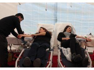 Kızılay, İAÜ'de Kan Bağışı İçin Çadır Kurdu
