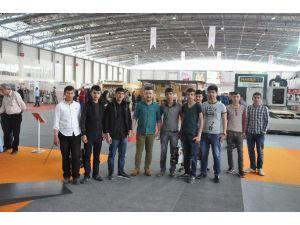 Kahta Metem Öğrencileri Ahşap İşleme Ve Yan Sanayi Fuarına Katıldı