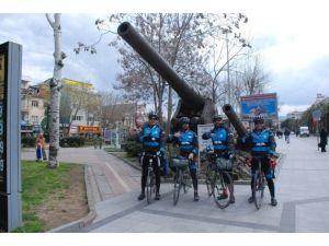 Bisikletçiler Manavgat'tan Çanakkale Şehitlerine Toprak Getirdi