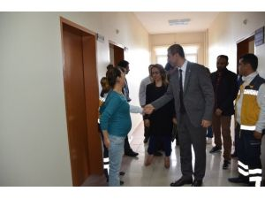 Kaymakam Mehmet Aksu Hastaneyi Ziyaret Etti