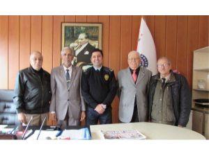Ayvalıklı Gazilerden Emniyet Müdürüne Nazik Ziyaret