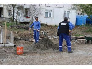 Akyazı'da Alt Yapı Çalışmaları Devam Ediyor