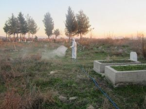 Kahramanmaraş'ta Mezarlıklara Özel Bakaım