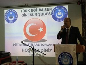 Türk Eğitim-sen Giresun Şubesi İstişare Toplantısı Yapıldı