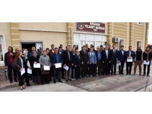 Aksaray'da Uygulamalı Girişimcilik Eğitimi Kursiyerlerine Sertifika