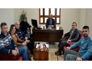 Bandırma Gazeteciler Cemiyeti Sonel'i Ziyaret Etti