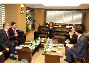 Büyükelçilik Görevlilerinden Başkan Çoban'a Ziyaret