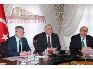 Elazığ'da Yatırım İzleme Biriminin Çalışmaları Değerlendirildi