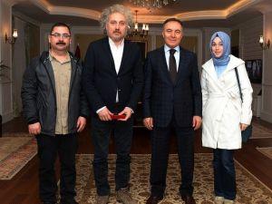 Vali Altıparmak, Yönetmen Aksu'yu Kabul Etti