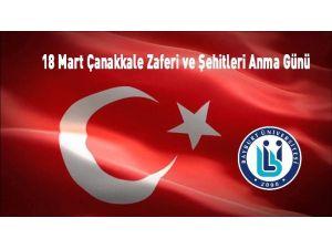 Rektör Coşkun'dan 18 Mart Çanakkale Zaferi Ve Şehitleri Anma Günü Mesajı
