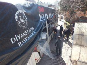 Pınarbaşı'ndan Bayır Bucak Türkmenlerine Gönderilen Yardım Tır'ı Dualar İle Uğurlandı