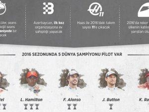 Formula 1'de yeni sezon, yeni heyecan