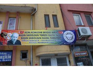 Düziçi Fenerbahçeliler Derneğinden Umut Bulut'a Taziye Pankartı